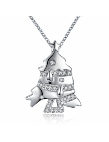 Christmas Series Zircon Necklace Small Fish Fashion Necklace