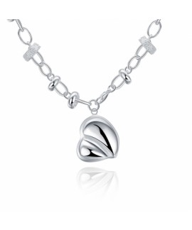 18-INCH Simple Heart Pendant Necklace