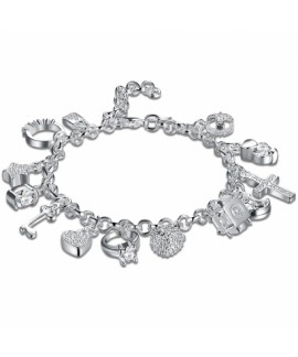 Fashion Hanging 13 Pieces of Silver Bracelet