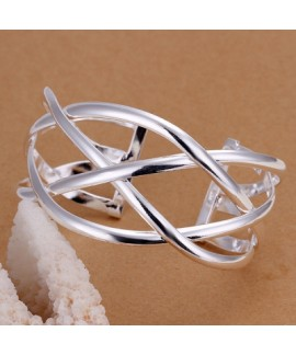 Large Cross Bracelet with Western Wind Opening and Silver Plating